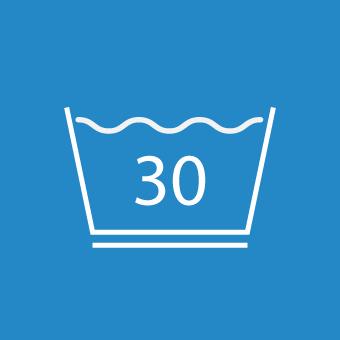 Waschsymbol 30 Grad unterstrichen (pflegeleicht)