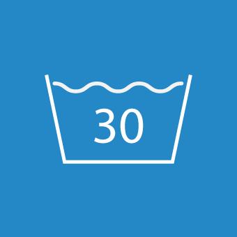 Waschsymbol 30 Grad
