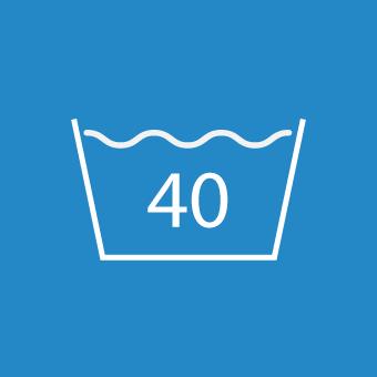 Waschsymbol 40 Grad