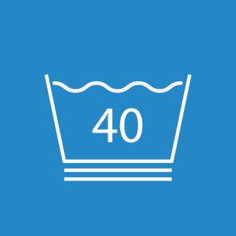 Waschsymbol 40 Grad doppelt unterstrichen