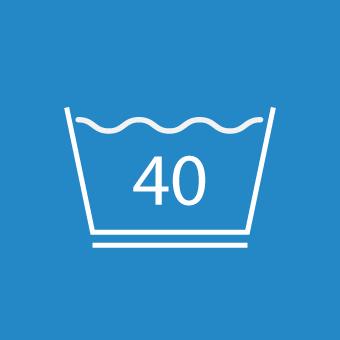 Waschsymbol 40 Grad unterstrichen