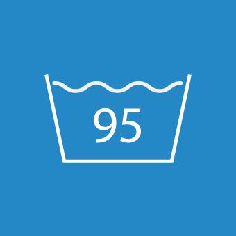 Waschsymbol 95 Grad
